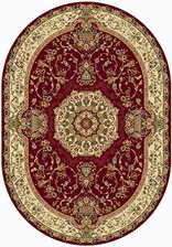 Ковер BUHARA_d037, 2,4*3,3, OVAL, RED