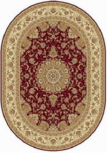 Ковер BUHARA_d158, 2*2,85, OVAL, RED