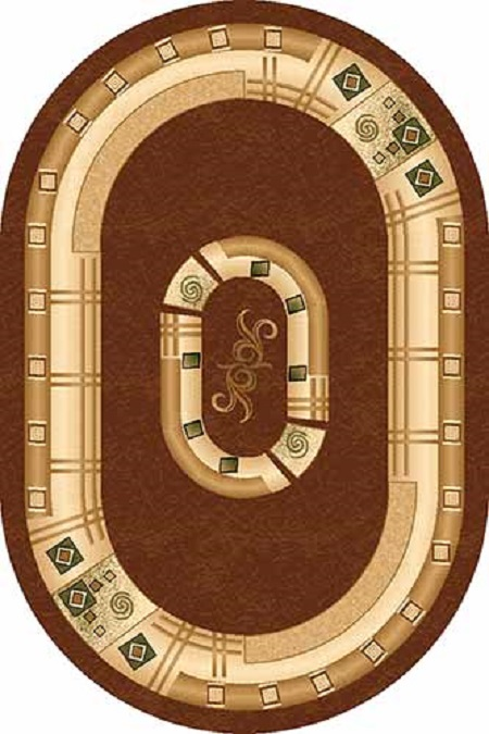 DA VINCI_5263, 0,8*1,5, OVAL, BROWN