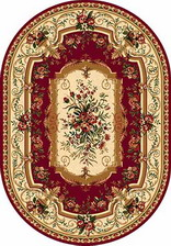 Ковер DA VINCI_5245, 1,5*2,3, OVAL, RED