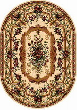 Ковер DA VINCI_5245, 2,5*5,5, OVAL, CREAM