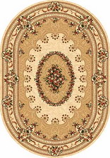 Ковер DA VINCI_5440, 0,8*1,5, OVAL, CREAM