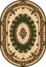 Ковер DA VINCI_5440, 1,5*4, OVAL, GREEN