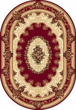Ковер DA VINCI_5440, 2,5*4,5, OVAL, RED