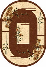 Ковер DA VINCI_d024, 2,5*4,5, OVAL, BROWN