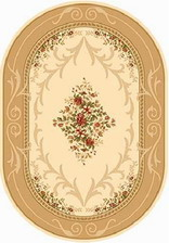 Ковер KAMEA_d142, 1*2, OVAL, CREAM-BEIGE
