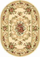 Ковер OLYMPOS_d057, 1,5*2,3, OVAL, CREAM