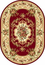 Ковер OLYMPOS_d057, 1,5*2,3, OVAL, RED