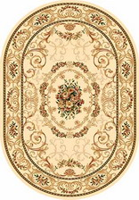 Ковер OLYMPOS_d066, 1*3, OVAL, CREAM