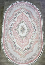 Ковер 36054A, 2*4, OVAL, PINK / PINK