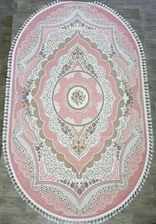 Ковер 36073A, 1,5*4, OVAL, PINK / PINK