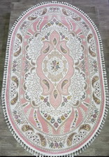 Ковер 36147A, 2,5*3,4, OVAL, PINK / PINK