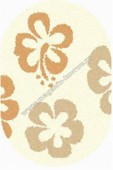 SHAGGY ULTRA_s605, 1,5*2,3, OVAL, CREAM