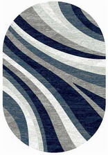 Ковер SILVER_d234, 2,5*5, OVAL, GRAY-BLUE