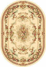 Ковер VALENCIA_4015, 0,8*1,5, OVAL, CREAM