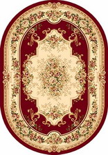 Ковер VALENCIA_4015, 1,5*4, OVAL, RED