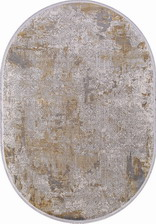 Ковер BIBLOS_9303, 0,75*1,5, OVAL, GREY - BEIGE