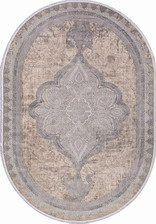Ковер BIBLOS_9308, 0,75*1,5, OVAL, BEIGE - GREY