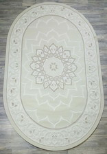 Ковер 2498OA, 3*4, OVAL, CREAM / CREAM