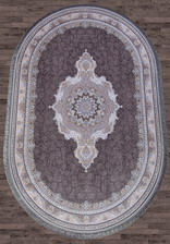 Ковер FARSI 1200_G252, 1,5*2,25, OVAL, DARK GRAY