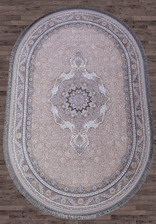 Ковер FARSI 1200_G252, 1,5*2,25, OVAL, LIGHT GRAY