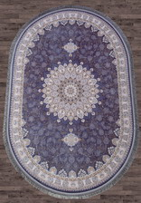 Ковер FARSI 1200_G253, 1,5*2,25, OVAL, BLUE-C