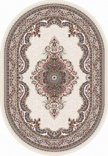 Ковер ISFAHAN_D506, 0,8*1,33, OVAL, CREAM
