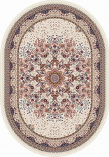 Ковер ISFAHAN_D521, 0,8*1,33, OVAL, CREAM