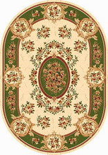 Ковер IZMIR_5394, 3*5, OVAL, CREAM-GREEN