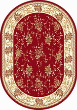 Ковер LAGUNA_5455, 0,6*1,1, OVAL, RED