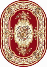 Ковер LAGUNA_5602, 1*2, OVAL, RED