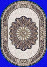Ковер MASHAD CLASSIC_02707A, 0,8*1,5, OVAL, NAVY - NAVY