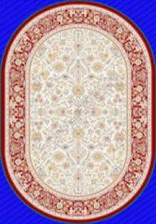 Ковер MASHAD CLASSIC_02644A, 0,8*1,5, OVAL, RED - RED