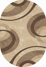 Ковер MEGA CARVING_4783, 1,5*3, OVAL, BEIGE