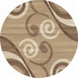 Ковер MEGA CARVING_d263, 4*4, DAIRE, LIGHT BEIGE