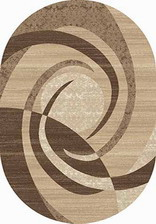 Ковер MEGA CARVING_d264, 2*4, OVAL, BEIGE