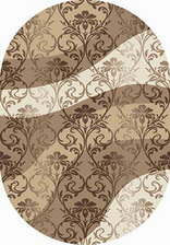 Ковер MEGA CARVING_d268, 1,5*3, OVAL, BEIGE