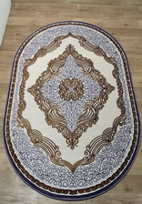Ковер OLYMP_9026A, 2*3,9, OVAL, BEIGE - LILAC