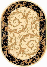 Ковер OLYMPOS_d156, 2*2,5, OVAL, CREAM-BLACK