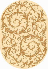 Ковер OLYMPOS_d156, 1*3, OVAL, CREAM