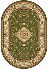 Ковер OLYMPOS_d389, 1,5*3, OVAL, GREEN