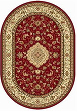Ковер OLYMPOS_d389, 1,5*3, OVAL, RED