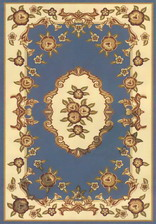 Ковер PACIFIC CARVING_0037, 3*3,5, STAN, BLUE - CREAM