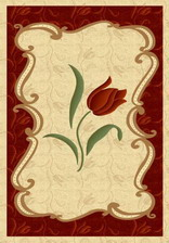 Ковер PACIFIC CARVING_0060A, 2,5*3,5, OVAL, CREAM - BORDEAUX