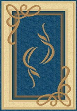 Ковер PACIFIC CARVING_94, 3*5,5, OVAL, NAVY - CREAM