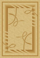 Ковер PACIFIC CARVING_0513A, 1*2, OVAL, CREAM - D.BEIGE