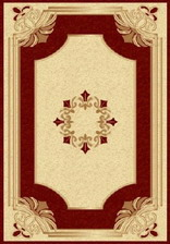 Ковер PACIFIC CARVING_58, 1*2, OVAL, CREAM - BORDEAUX