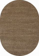 Ковер Queen_t600, 0,8*1,5, OVAL, DARK BEIGE