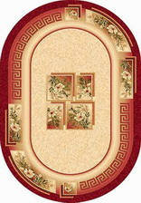 Ковер SAN REMO_w010, 3*5, OVAL, RED