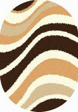 Ковер SHAGGY ULTRA_s607, 2*5, OVAL, BEIGE-BROWN